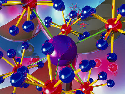 Abstract Of Molecules Print by Roger Harris