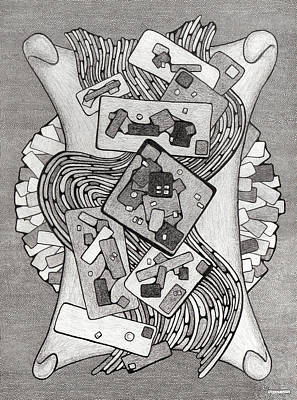 Abstract Drawing - Abstract One by Gregory Grant