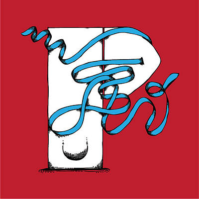 Abstract 'p' Print by Michaela Mitchell