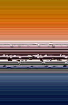 Abstract Beach Landscape Digital Art - Abstract Sunset by Michelle Calkins