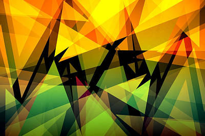 Abstract Triangle Colorful Background Original by Nattapon Wongwean