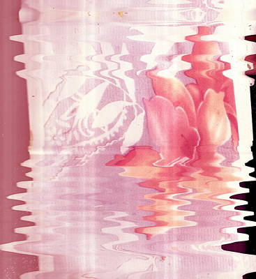 Abstract Vase With Floral Designs Print by Anne-Elizabeth Whiteway