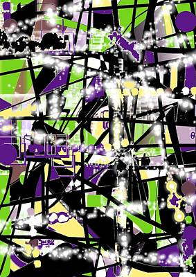 Blak Digital Art - Abstract80z by Vicki Lynn Sodora