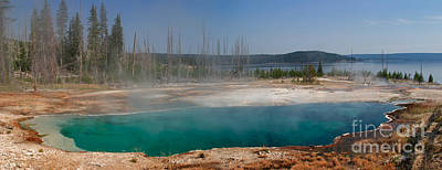 Steam Photograph - Abyss Pool -- West Thumb Geyser Basin by Charles Kozierok