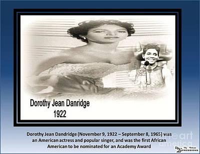 Doothy Dandridge Print by Belinda Threeths