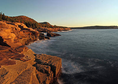 Acadia Granite Seacoast At Sunrise Print by Juergen Roth