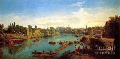 Caspar Painting - Accademia Nazionale Di San Luca By Caspar Van Wittel by Pg Reproductions