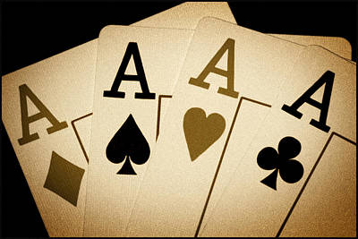 4 Aces Photograph - Aces by Shane Rees