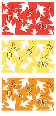 Acorn Digital Art - Acorns by HD Connelly