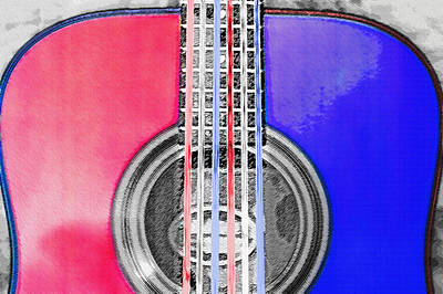Acoustic Guitar - Americana Print by Steve Ohlsen
