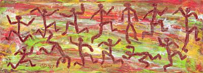 Acrylic Stickmen 2009 Print by Carl Deaville