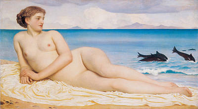 Actaea The Nymph Of The Shore Print by Frederick Lord Leighton