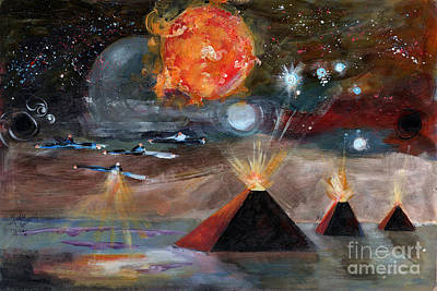 Constellation Painting - Activation by Ginette Callaway