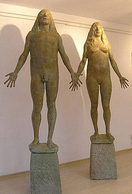 Adam And Eve Original by Vova Kochmar