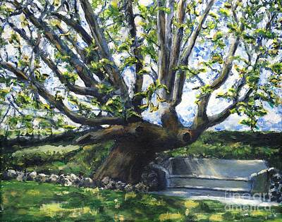 Adamson Home Tree Print by Randy Sprout