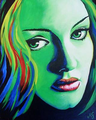 Adele Painting - Adele - Rumour by Anne Gardner