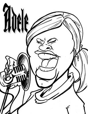 Adele Drawing - Adele by Big Mike Roate