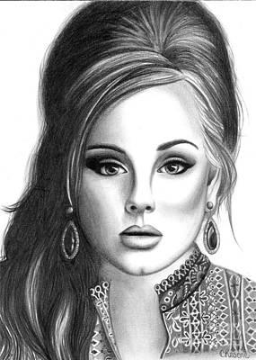 Adele Drawing - Adele by Crystal Rosene