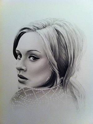 Adele Drawing - Adele by Tom Hansen