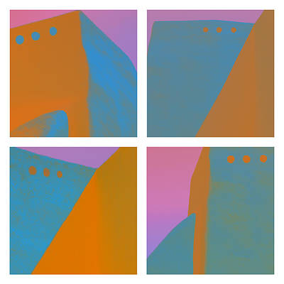 Adobe Walls Four-up Print by Carol Leigh