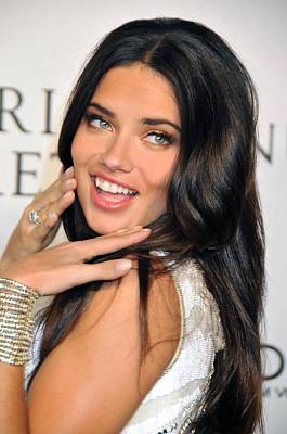 Adriana Lima  At Arrivals For Victorias Print by Everett