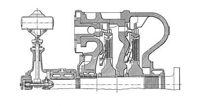 Technical Photograph - Aeg-curtis Steam Turbine by Mark Sykes