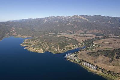 Casita Photograph - Aerial Of Lake Casitas At Full Capacity by Rich Reid