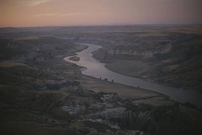 White River Scene Photograph - Aerial Of The Missouri River by Sam Abell