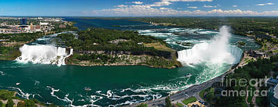 Outlook Photograph - Aerial Panoramic View Of Niagara Falls by Oleksiy Maksymenko