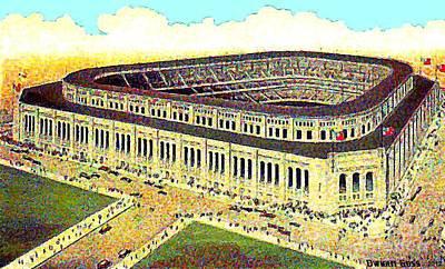 Yankee Stadium Painting - Aerial View Of Yankee Stadium In 1924 by Dwight Goss