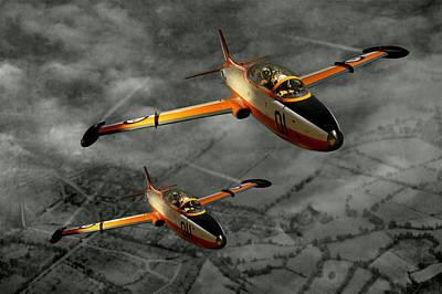 Photograph - Aermacchi In Flight by Steven Agius