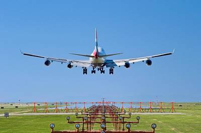 Passenger Plane Photograph - Aeroplane Landing, Canada by David Nunuk