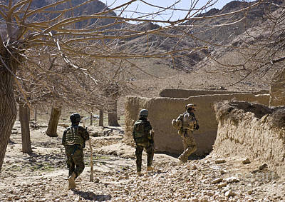 Afghan Commandos Are Guided Print by Stocktrek Images