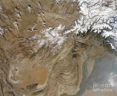 Landmass Photograph - Afghanistan by Stocktrek Images