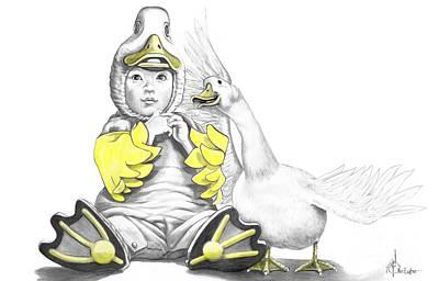 Aflac Baby Duck Print by Murphy Elliott