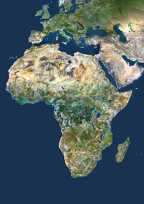 Africa, Satellite Image Print by Planetobserver