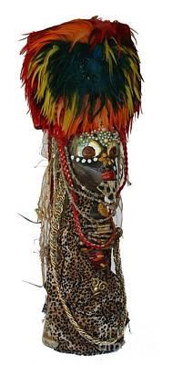 Ethnic Dolls Sculpture - African Queen by Avonelle Kelsey