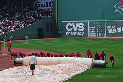 After The Rain Delay Print by Mike Martin