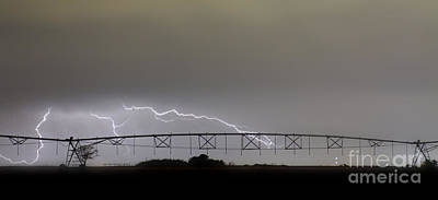 Thunder Photograph - Agricultural Irrigation Lightning Bolts by James BO  Insogna