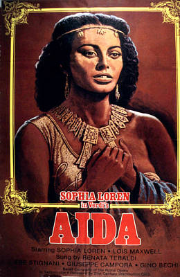 Aida Photograph - Aida, Sophia Loren, 1953 by Everett