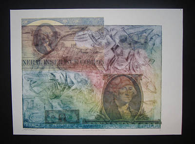 Aig The Dollar And George Compared Print by John  Schwind