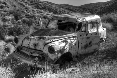 Wrecked Cars Photograph - Air Conditioned By Bullet by Bob Christopher
