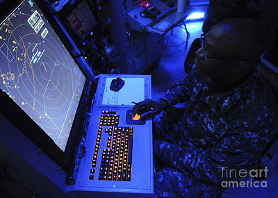 Air-traffic Controller Tracks Incoming Print by Stocktrek Images