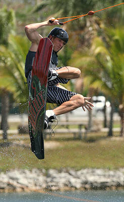 Wakeboarding Photograph - Airborne by PMG Images