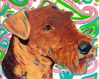 Dog Painting - Airedale Terrier by Char Swift