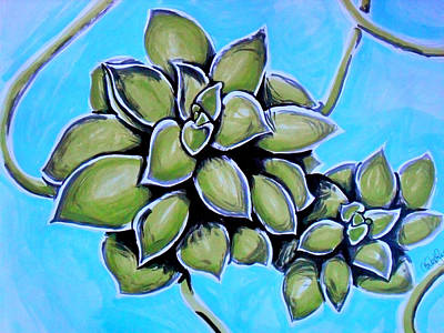 Water Painting - Airplane Plant by Amber Hennessey