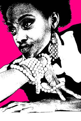 African Woman Photograph - Aisha Pink by Naxart Studio