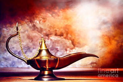 Aladdin Lamp Print by Olivier Le Queinec
