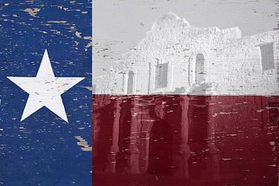 Alamo Wall Art Original by Paul Huchton