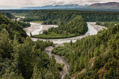 Up201209 Photograph - Alaska Railroad Two by Josh Whalen